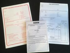 USED CAR VEHICLE SALES INVOICE PAD AND PURCHASE PAD AND DEPOSIT PAD