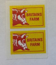 """BRITAINS LAND ROVER """"BRITAINS FARM"""" DECALS/STICKERS"""