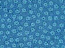 Blue Cotton Fabric Dotted Museum designer Circle material 3 Yards 2""