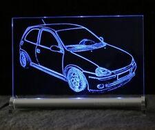 Opel Corsa B als  AutoGravur auf LED-Leuchtschild