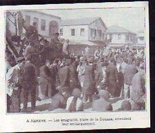 1921  --  MERSINE  EMIGRANTS PLACE DE LA DOUANE  P343