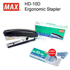 MAX HD-10D Ergonomic Stapler (Made in JAPAN) + No.10-1M (Free Staples)