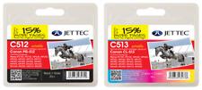 Jettec Canon 512 Black PG-512 + Canon 513 Colour CL-513 For iP2700, iP2702 MP230