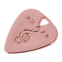 New Rose Gold Metal Electric Guitar Bass 0.38-1.4mm Thickness Pick Plectrum