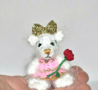 Handmade Miniature Ooak Artist Teddy Bear Dollhouse Dolls Toy Animal Friend Gift