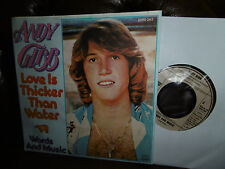 """Andy Gibb, Love is Thicker Than Water, Words and Music, German RSO 7"""" 1977"""