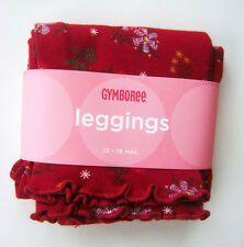 GYMBOREE Mountain Cabin Girls Cotton Red Floral Leggings 12 - 18 M NEW