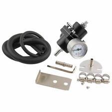 Universal Aluminum Adjustable Fuel Pressure Regulator 0-140 PSI Gauge + Hose Kit