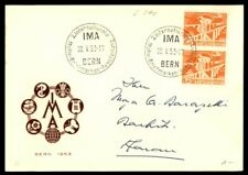 Mayfairstamps SWITZERLAND 1953 IMA BERN VERTICAL PAIR FIRST DAY COVER wwe13121