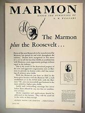 Marmon Motor Car PRINT AD - 1929 ~~ The Roosevelt