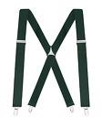 "Buyless Fashion Suspenders For Men 48"" Elastic Adjustable Straps 1 1/4"" X Back"