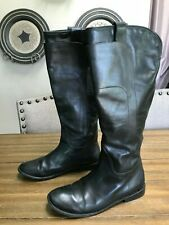 Frye Paige Black Leather Tall Riding Boots Women's 8.5