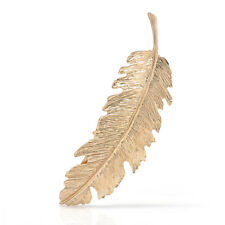 Gold Silver Leaf Feather Hair Clip Hairpin Barrette Bobby Pins Women Hair Accs