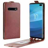 Samsung Galaxy S10e S10+Plus Vertical Flip PU Leather Up Down Magnet Case Cover