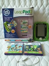 Green Leapfrog Leappad 2 Tablet 2 games Toy Story gel skin connect cable Boxed