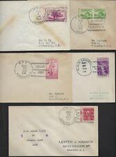 US PER 1936 FIVE DIFF US FLEET SHIP COVER POST ON BOARD IN GALAO PERU USS HULL