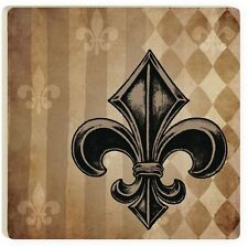 "Fleur De Lis Ceramic Coasters, Set of 4, 4"" x 4"""