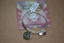 Alex and Ani Shiny Silver Hand of Fatima Avocado Bracelet NWT