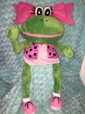 """30"""" Houghton Mifflin Harcourt DELUX POSEABLE FROG HAND Plush PUPPET MAGNETIC"""