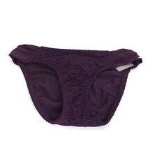 Mossimo Womens Bikini Swim Bottom Size Medium Purple Ruched Sides Hipster