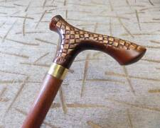 Wooden men's Walking Cane Stick Handcrafted Top quality oak wood Awesome Design