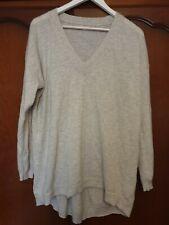 Women Pale Grey Wool Jumper by FAT FACE size 18