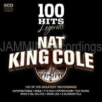NAT KING COLE - 100 HITS LEGENDS - 5 CD BOX SET