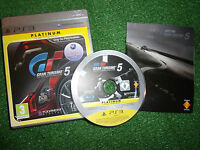 PS3 PLAYSTATION 3 GAME GRAN TURISMO 5 / V +BOX & INSTRUCTIONS / COMPLETE PAL VGC