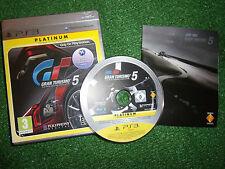 GIOCO PS3 PLAYSTATION 3 GRAN TURISMO 5/V + SCATOLA & Istruzioni/COMPLETO PAL in buonissima condizione