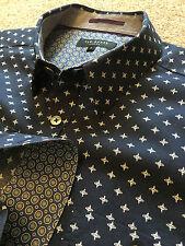 Ted Baker FUNKY STAR Polka Dot Chemise Avec Motif Cachemire Doublure taille 3 prix 108 £