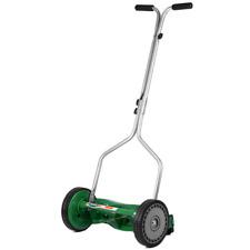 14 In. Wide 5 Blade Reel Lawn Mower Cutter Adjustable Lightweight T Style Handle
