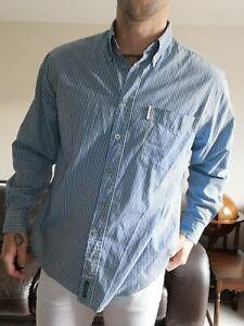 Mens Vintage Ben Sherman Shirt Size L Blue Check