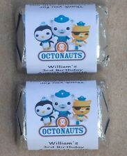 30 OCTONAUTS BIRTHDAY PARTY PERSONALIZED NUGGET CANDY WRAPPER LABELS FAVORS