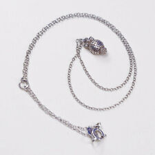 """16+2"""", 1mm Anna beck Sterling silver handmade necklace 925 chain w/ owl pendant"""