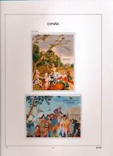 XC50159 Spain 2008 paintings art sheets MNH