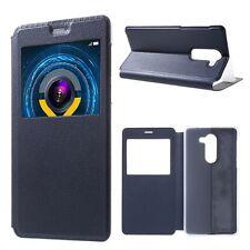 Booktasche Flip Window Blau für Huawei Honor 6X Tasche Cover Hülle Case Etui Neu