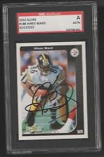 2002 SCORE #184 HINES WARD PITTSBURGH STEELERS FOOTBALL CARD AUTO SIGNED SGC