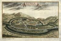Langvek Cambodia Eauweck Southeast Asia 1761 lovely engraved bird's eye view