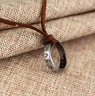 Uncharted 4 Necklace Nathan Drake's Vintage Band Ring Leather Pendant USA FAST