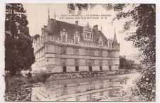 azay-le-rideau , le château national ,côté sud et l'indre