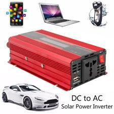 1200W Inverseur énergie solaire voiture 12 CC 220V AC Convertisseur sinusoïdal