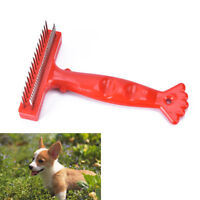 1xstainless steel comb hair brush shedding flea for cat dog pets trimmer too LDU