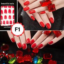 Red Artificial Short Full Cover False Fake Nails Art Tip Accessories 24Pcs/Set