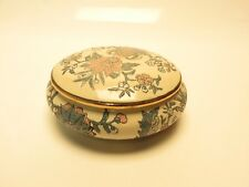 ANDREA by Sadek Flowers Gold Trim Trinket Dish Bowl Lidded BA6B318