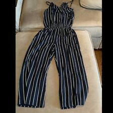 Abercrombie Kids Navy Striped Jumpsuit w/ Ruffles. 13/14
