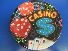 """Casino Night Cards Suits Jackpot Poker Theme Party 10.5"""" Paper Banquet Plates"""