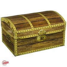 Kids Treasure Chest Storage Childrens Golden Decorative Trunk Nautical Small NEW