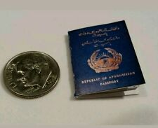 Miniature Terrorist passport  GI Joe Action Figure  Scale Blue Afghanistan 2 Spy