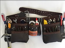 Leather Tool Belt Pouch With 13 pockets For Carpentry Construction, New