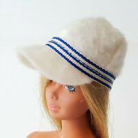 Vintage Barbie #4274 Fun at McDonalds White Felt Baseball Cap Uniform Hat MINT